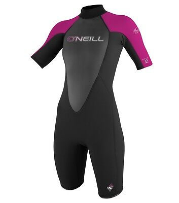 O'Neill Womens 3/2mm Reactor Shorty Spring Wetsuit, Size 4, NWT