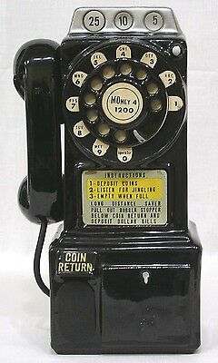 Vintage Still Bank Ceramic Pay Telephone Made in Japan