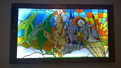 ILLUSTRATIVE STAINED GLASS ART LIGHT BOXES - Dragon Lord