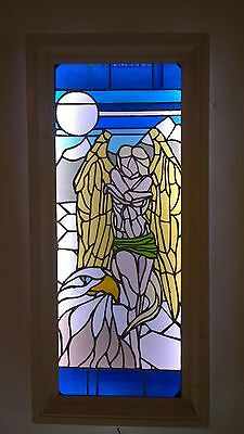 ILLUSTRATIVE STAINED GLASS ART LIGHT BOXES - Fallen Angel