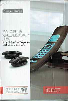 iDECT Cordless Solo Plus Call Blocker Twin DECT Phone Answer Machine  BOXED