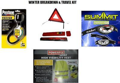AA Warning Triangle & Anti freeze Tester Hi Vis Jacket Summit LED Torch Branded