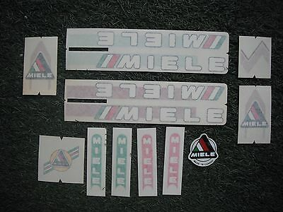 Vintage Miele White Bicycle Bike Decal Sticker Set Old School Retro Not Remade!!