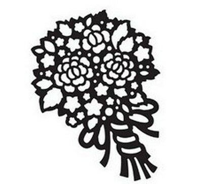 Wedding Bouquet/Flowers metal die - for use in most die cutting systems