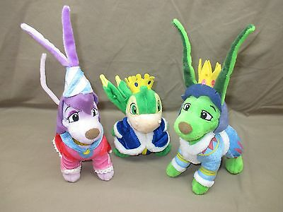 Set of THREE Neopets ROYAL Plush Toys. Boy & Girl GELERT +Scorchio. Snipped Tags