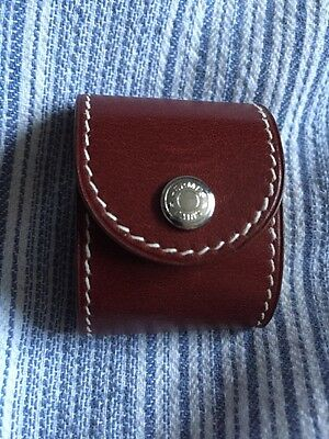 Authentic Hermes Foldable 2001 Silver Jewellery Loup Leather Case