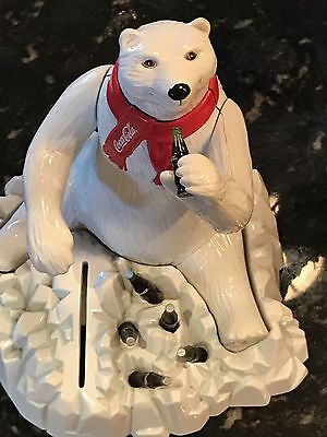 1995  Coca-Cola Die-cast Metal Polar Bear Bank
