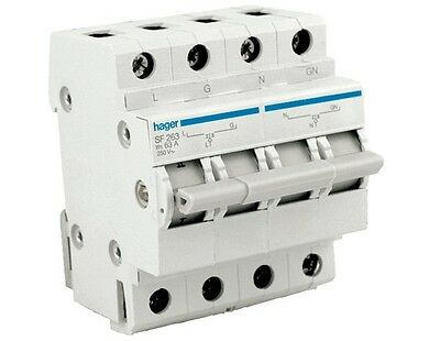 HAGER SF263 | Changeover Switch 2 Pole 63 Amp 240v 50Hz Din Mounted