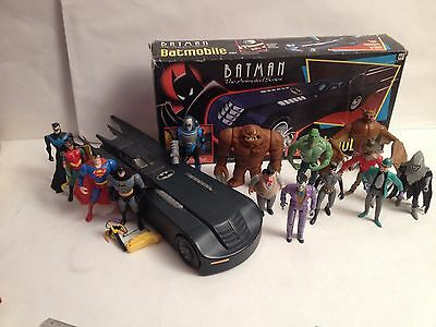 BATMOBILE kenner VEHICLE BATMAN THE ANIMATED SERIES 1993 combat belt x14 FIGURES