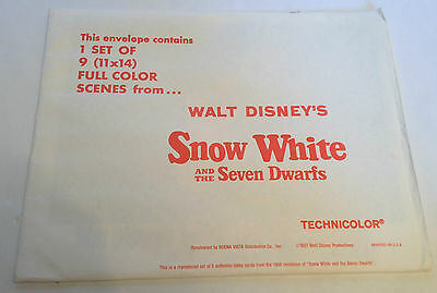 Walt Disney's SNOW WHITE AND THE SEVEN DWARFS set of 9 lobby cards 1958 release