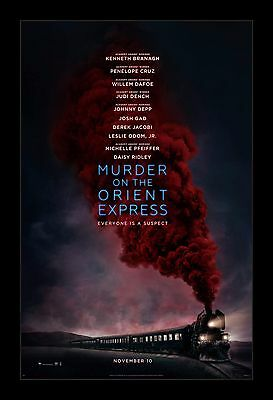 MURDER ON THE ORIENT EXPRESS  framed movie poster 11x17 Quality Wood Frame