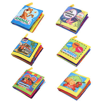 Baby Soft Cloth Book Kid Early Educational Cartoon Book Toys Kid Developing Toy