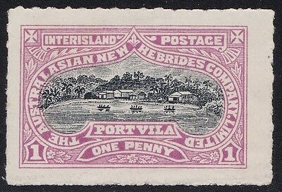 Stamps Australia - 1d New Hebrides Company - Mint Hinged.