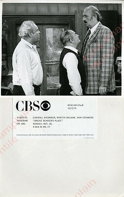 ARCHIE BUNKER'S PLACE PRESS Photo Carroll O'Connor 1979