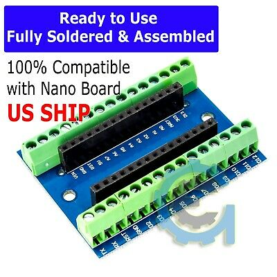 Nano Expansion Terminal Adapter Shield For Arduino Nano V3.0 ATMEGA328P AU Board