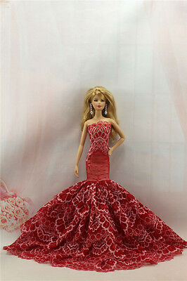 Fashion Handmade Princess Dress Wedding Clothes Gown for Barbie Doll L77