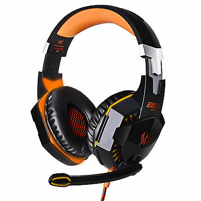 G2000 USB Stereo Surround PC Computer Gaming Headset Headphone Headband with Mic
