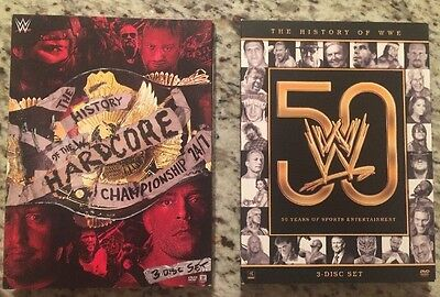 DVD WWE Lot: The History Of The W Hardcore Championship 24/7 & History Of WWE 50