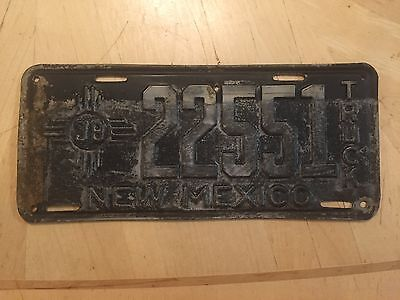 "1938 New Mexico Truck License Plate "" 22551 "" Nm 38 Ready To Be Restored"