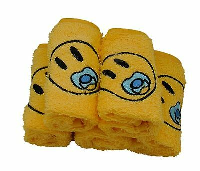 Hudz Kidz 100% Cotton Washcloth Pacifier Baby Emoji - SOFT & ABSORBENT - Set ...
