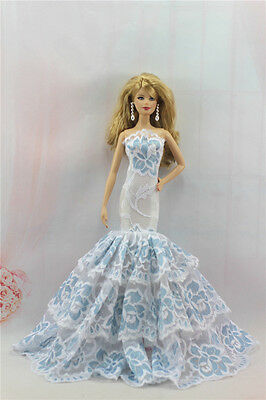 Fashion Handmade Princess Dress Wedding Clothes Gown for Barbie Doll L103