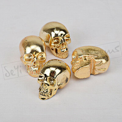 1.8 - 2.0 inch  electroplated golden color Crystal Skull  home decor gift
