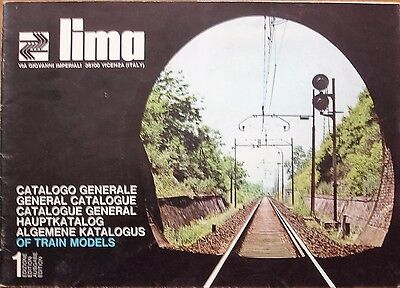 Lima General Catalogue of Model Trains Edition 1 Italy