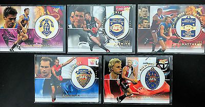 2003 AFL Select XL Medal Card Complete Set (5 cards)
