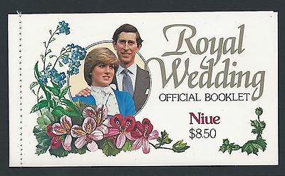 1981 Niue Royal Wedding Charles & Diana Booklet Fine Mint Muh/mnh