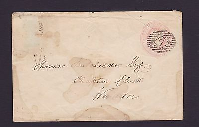 Gb Great Britain 1847 Qv 1D Embossed To Widsor Letter History (De109)