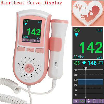 Ultrasound Machine Fetal Doppler OLED Prenatal Heart Monitor Baby Sound Detector