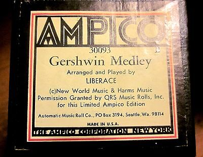 AMPICO #30093B GERSHWIN MEDLEY by LIBERACE Player Piano Roll (Limited Edition)