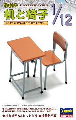 Hasegawa FA01 62001 1/12 Japanese SCHOOL DESK & CHAIR FIGURE Figma from Japan