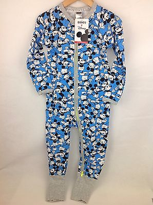 Bonds Disney Mickey Blue Zippy Wondersuit BNWT Size 2 / 18-24 Months