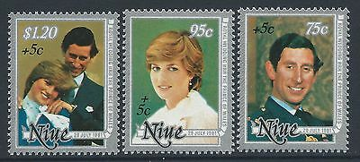 1981 Niue Royal Wedding/year Of Disabled Set Of 3 Fine Mint Muh/mnh