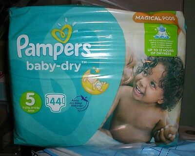 x3 packs -Pampers Baby Dry - Size 5 - New/Sealed