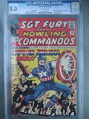 Sgt. Fury (1964) #13 CGC 8.0 OW **1st Meeting Captain America & Nick Fury**