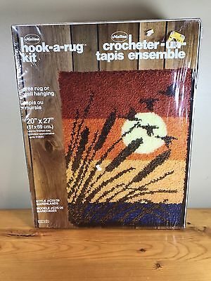 "Malina Hook-A-Rug Kit Area Or Wall Hanging 20""X27"" Style #C25/28 Marshlands New"