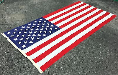 Vintage 5' x 9' AMERICAN FLAG w/ 50 Stars - 100% Cotton - VALLEY FORGE FLAG Co.