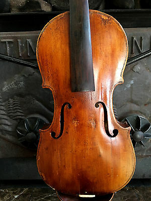 Antique Very Old Violin For Restoration, Repair label, Grafted Scroll