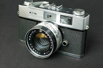 Konica Auto S 1.6 Rangefinder Camera, Fully Functional, Ready to Shoot, Rare