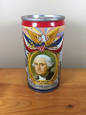 Vintage Beer Can Falstaff Brewing George Washington I Cannot tell A Lie Pull Tab
