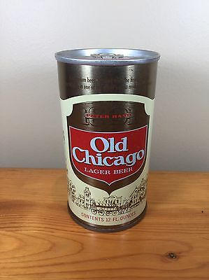 Vintage Beer Can Old Chicago Lager Peter Hand Brewing Co Illinois Pull Tab