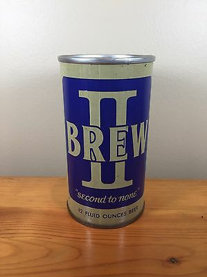 Vintage Beer Can II Brew Second To None Horlacher Brewing Allentown PA Pull Tab