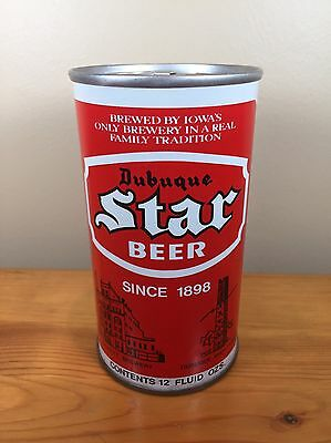 Vintage Beer Can Dubuque Star Los Pickett & Sons Iowa Steel Tradition Pull Tab