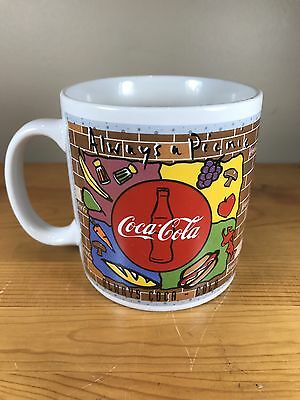 Vintage Coca-Cola Coffee Mug Coke 1995 Always A Picnic Cup