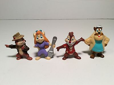Vintage Chip n Dale's Rescue Rangers Kellogg's Figure Toy Set of 4