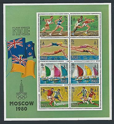 1980 Niue Olympic Games: Moscow Minisheet Fine Mint Muh/mnh