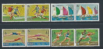 1980 Niue Olympic Games: Moscow Set Of 8 Fine Mint Muh/mnh
