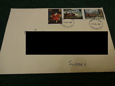 First Day Cover Issue 10th July 1967 - British Paintings STUBBS LOWRY LAWRENCE